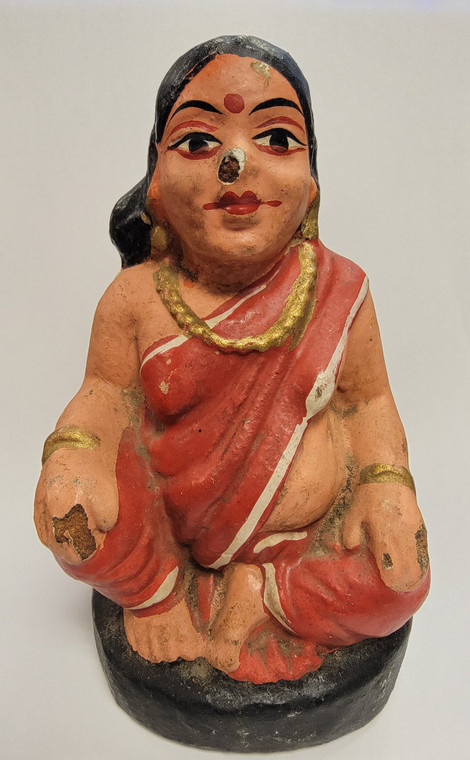 Vintage Handmade Terracotta Statue from India 9