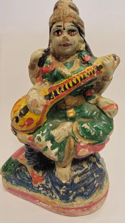 Vintage Handmade Terracotta Statue from India 3