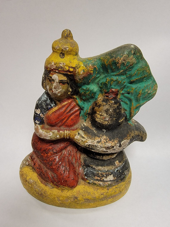 Vintage Handmade Terracotta Statue from India 23