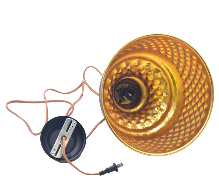 Metal and gold Leaf Pendant Lamp