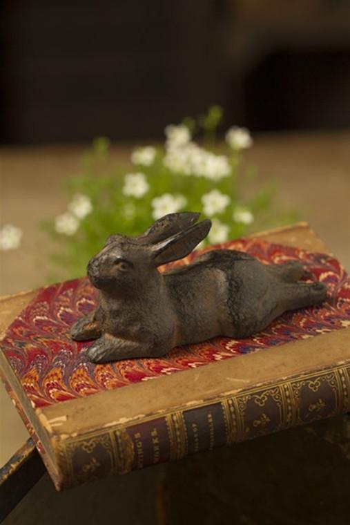Large Cast Iron Rabbit