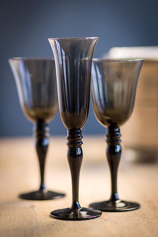 Champagne Glass in Smoke
