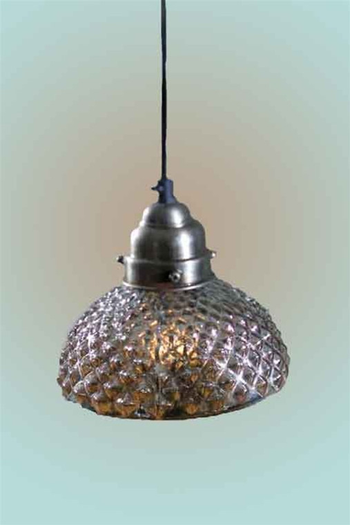 Hobnail Mercury Glass Pendant Lamp