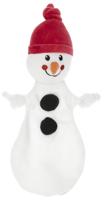 "Organic Snowman Cuddlie - 11"" Soft Teether"