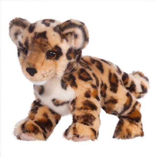 "Spatter Leopard Cub - 14"" Leopard By Douglas Cuddle Toy"