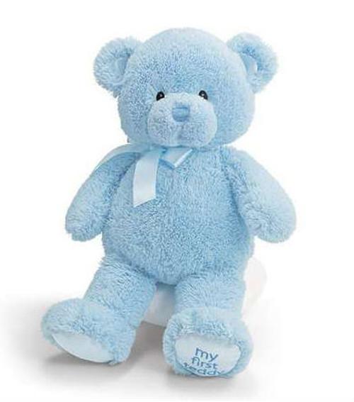"""My First Teddy (Blue) - 15"""" Bear By Gund"""