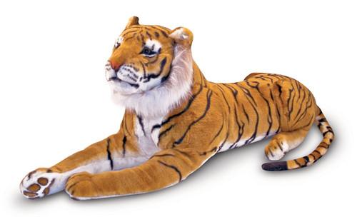 "Tiger - 46"" Laying Plush Tiger by Melissa & Doug"