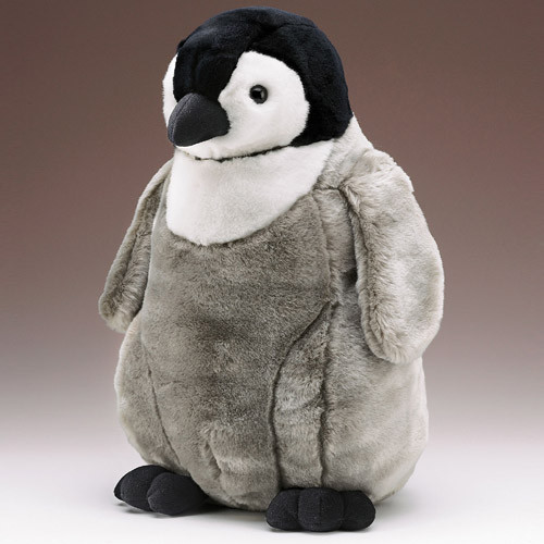 "Emperor Penguin Chick - 21"" Penguin by Wildlife Artists"