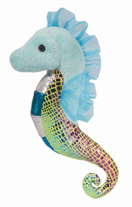 "Aqua - 9"" Seahorse by Douglas Cuddle Toys"