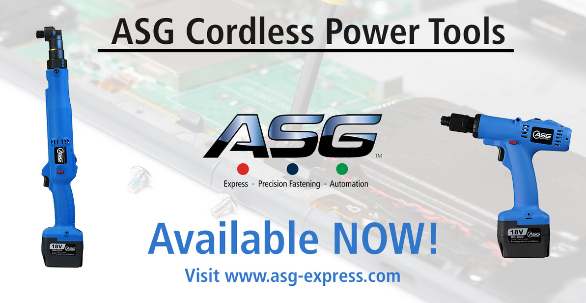ASG Launches New Cordless Screwdriver Solutions