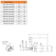 28M THREADED OUTPUT SHAFT AIR MOTOR DRAWING
