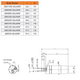 28M THREADED OUTPUT SHAFT AIR MOTOR DIMENSIONAL DRAWING