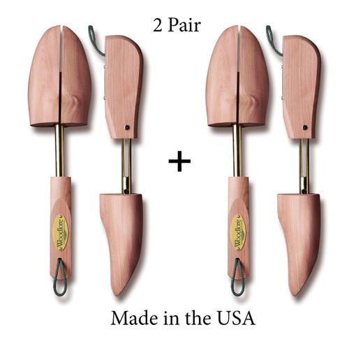 Men's Adjustable Shoe Trees, 2-pack