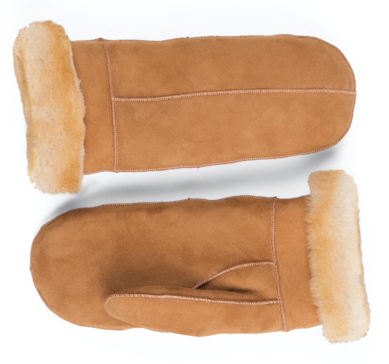 Women Super Warm Winter Genuine Leather Gloves Sheepskin Sheep Fur Lady Mittens