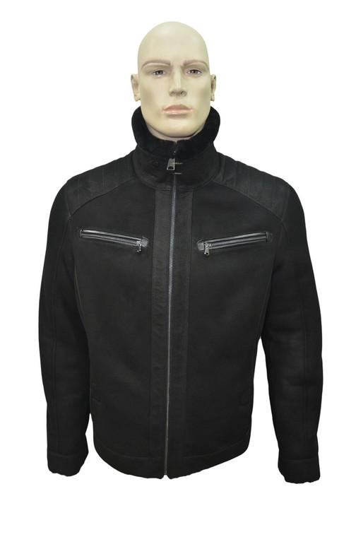 Men's Genuine Shearling Sheepskin Fashionable Classic Winter Jacket