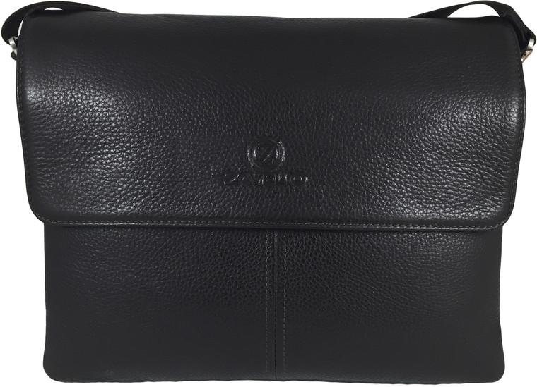 Men's Genuine Leather Briefcase Shoulder Messenger Bag - Brown