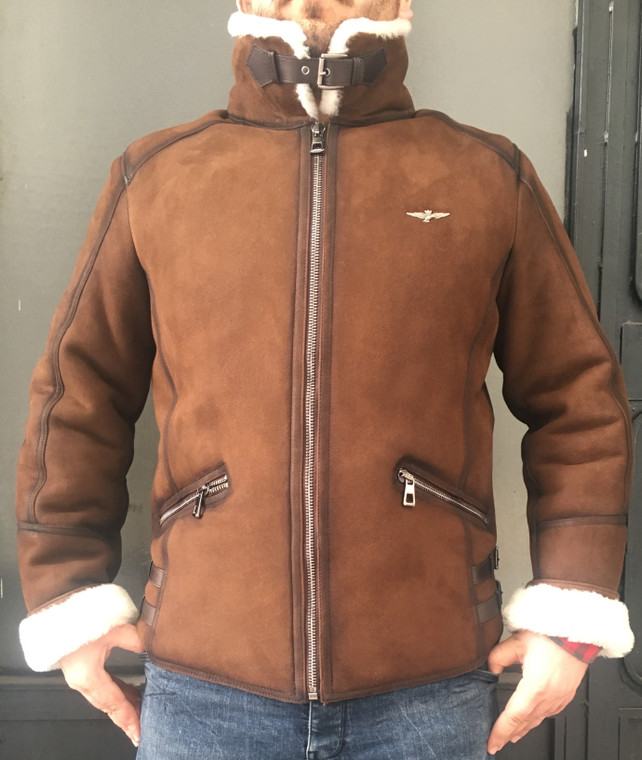 Men's Shearling Bomber Jacket - picture 1