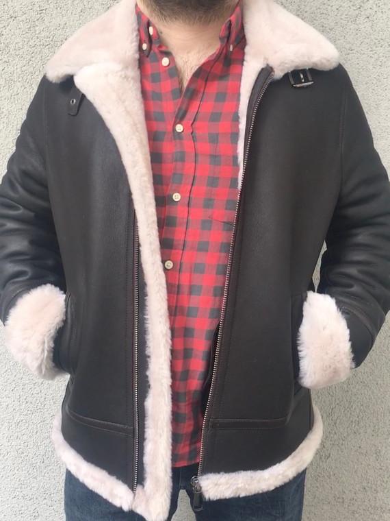 Men's Designer Shearling Jacket - picture 1