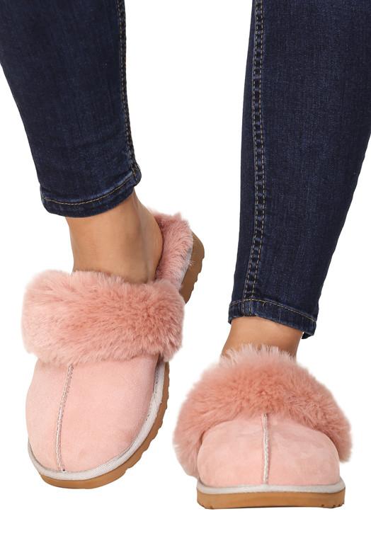 women's sheepskin slippers pink 10
