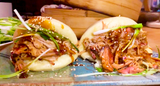 Pulled Pork with Bao Buns and Sticky Plum Sauce