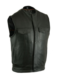 DS181A Concealed Snap Closure, Milled Cowhide, Without Collar & Hidden Zipper