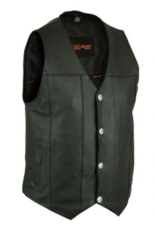 DS141 Men's Single Back Panel Concealed Carry Vest (Buffalo Nickel Head Snaps)