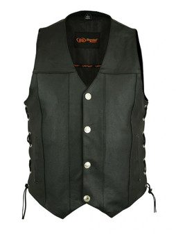 DS142 Men's Single Back Panel Concealed Carry Vest (Buffalo Nickel Head Snaps)