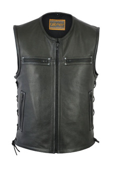 DS146 Men's Zipper Front Single Back Panel Concealed Carry Vest