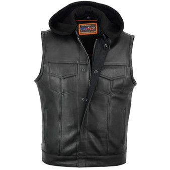 DS182 Concealed Snaps, Premium Naked Cowhide, Removable Hood & Hidden Zipper