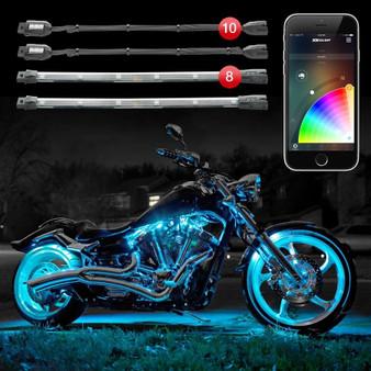 10 Pod 8 Strip 2nd gen XKchrome App Control Motorcycle Advanced LED Accent Light Kit