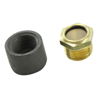TC Bros. Gas Tank Sight Glass Kit (with steel weld in bung)