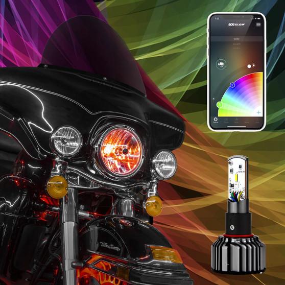 2IN1 LED HEADLIGHT KIT FOR MOTORCYCLE   XKCHROME SMARTPHONE APP