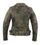 DS836 Women's Updated Stylish Antique Brown M/C Jacket