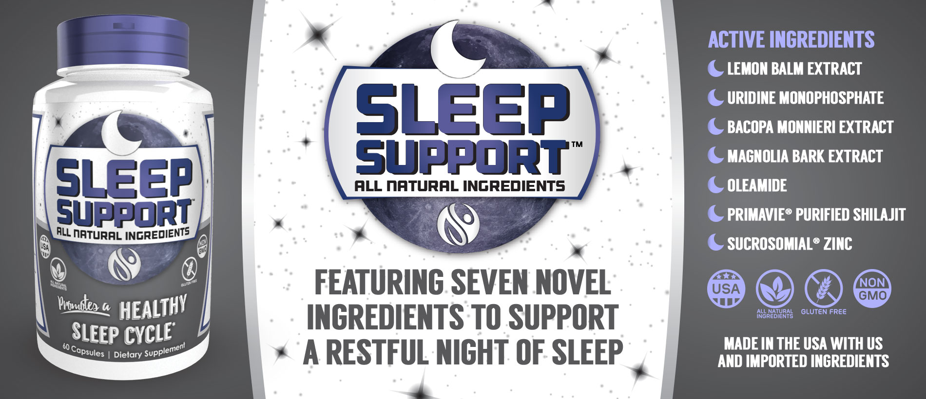 Sleep Support Capsules by Natrium Health