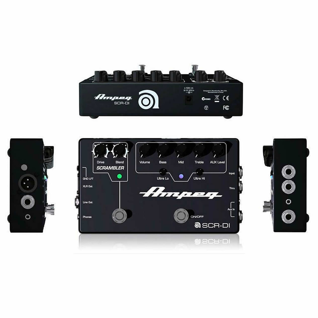 AMPEG SCRDI Bass DI with Scrambler Overdrive
