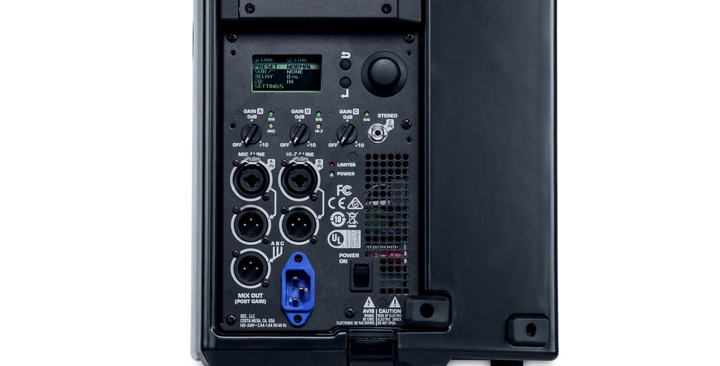 QSC K8.2 rear panel