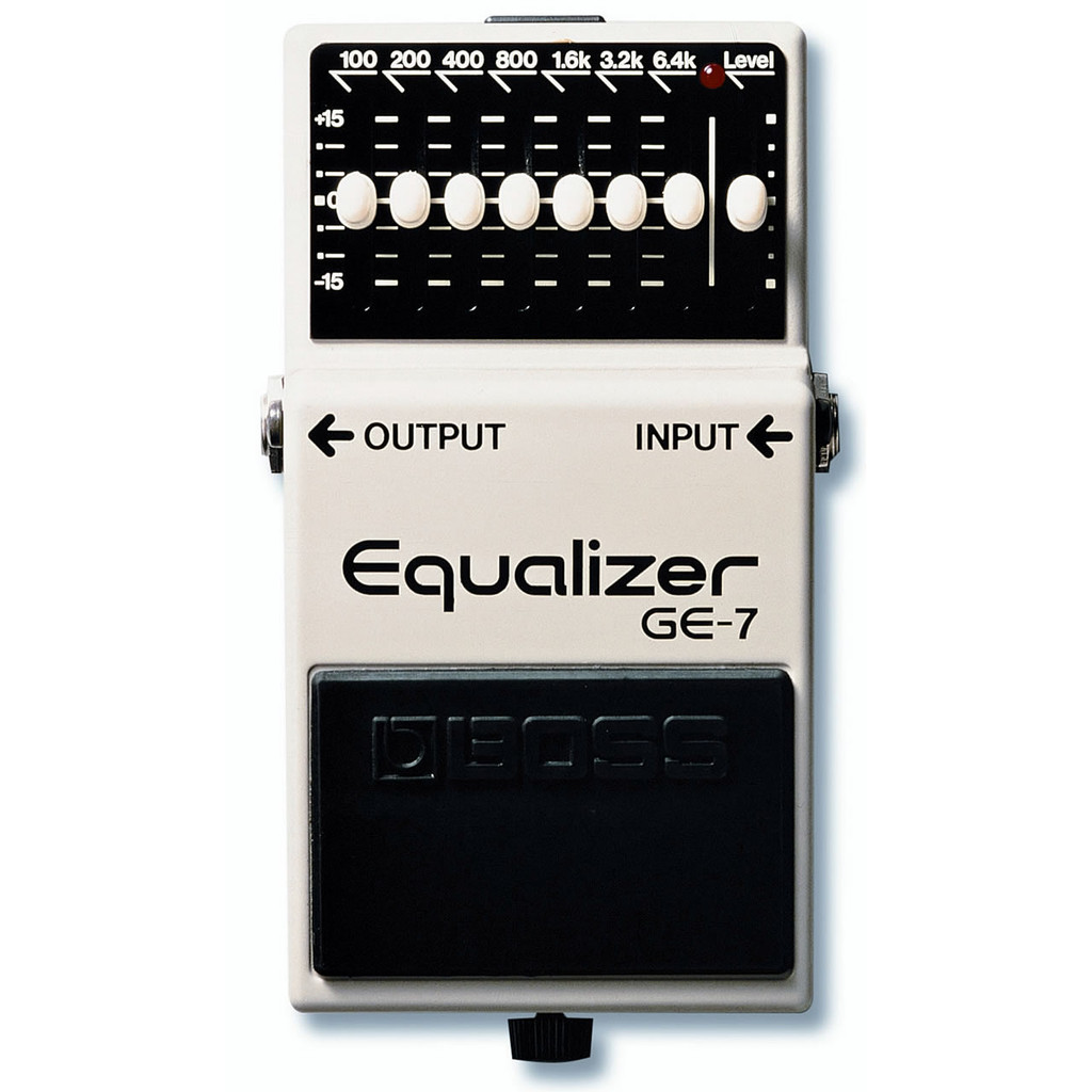 Boss GE7 7 Band EQ pedal Top
