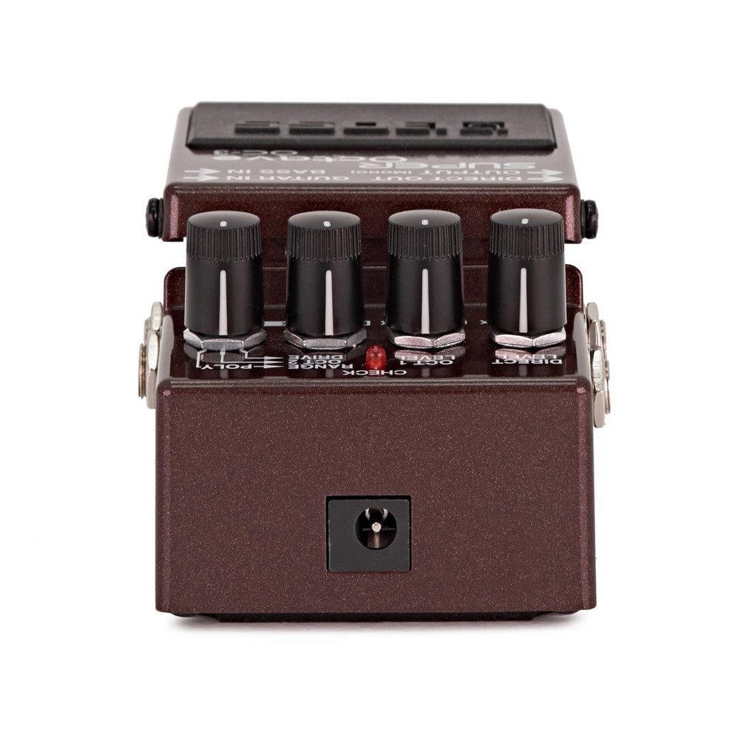 Boss OC3 OC-3 Super Octave Pedal -  Front View of AC Adapter