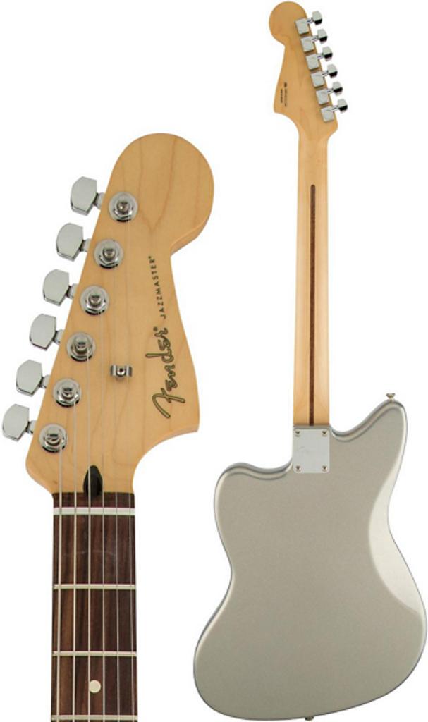 Fender Jazzmaster HH Rear Facing with Headstock Closeup