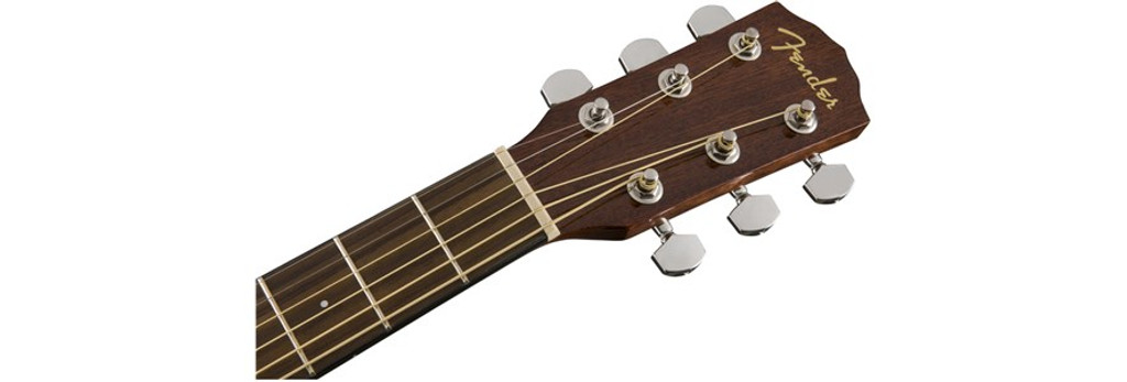 Fender CD60S Left-Handed Acoustic Guitar Headstock Front Facing