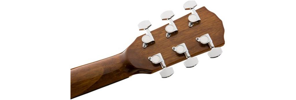 Fender CD60SCELHN Left-Handed Headstock Rear Facing
