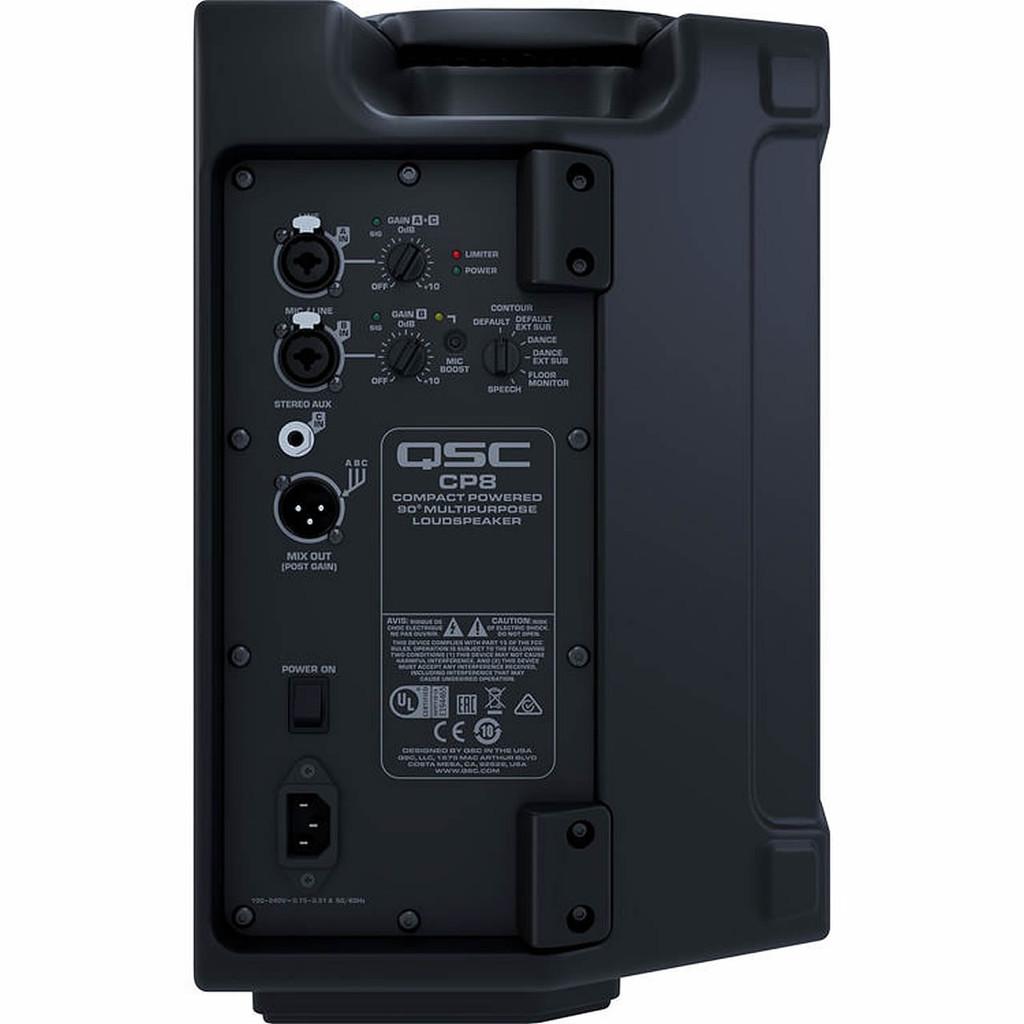 QSC CP8 1000 Watt Compact Powered Loudspeaker Rear