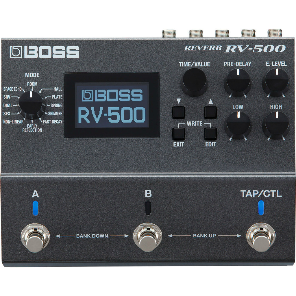 Boss RV500 Multi Reverb Pedal with Expression or Tap Tempo