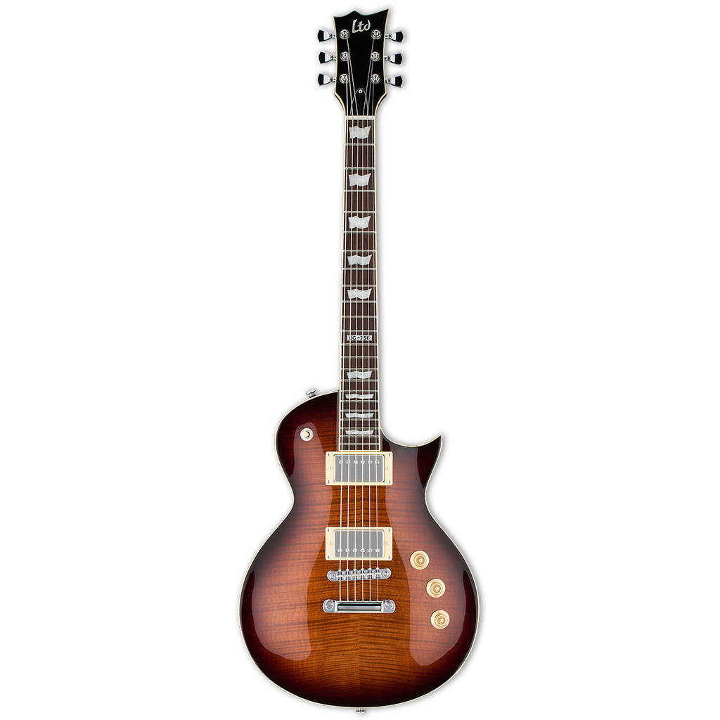 ESP LTD EC256 6 String Guitar - Dark Brown Sunburst