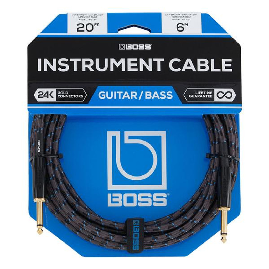 Boss 20ft Instrument Cable