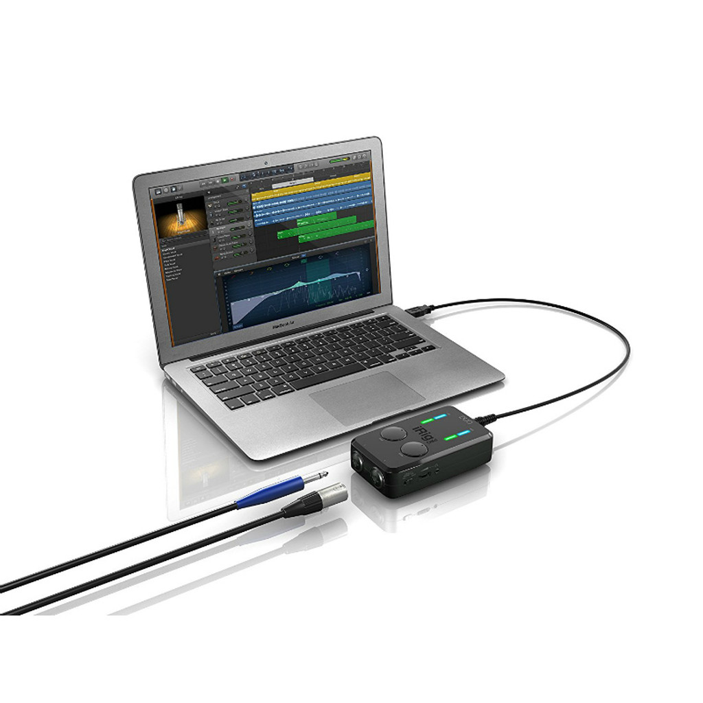 IK MULTIMEDIA iRig Pro DUO I/O 2-channel audio interface with MIDI for iPhone/iPad and Mac/PC