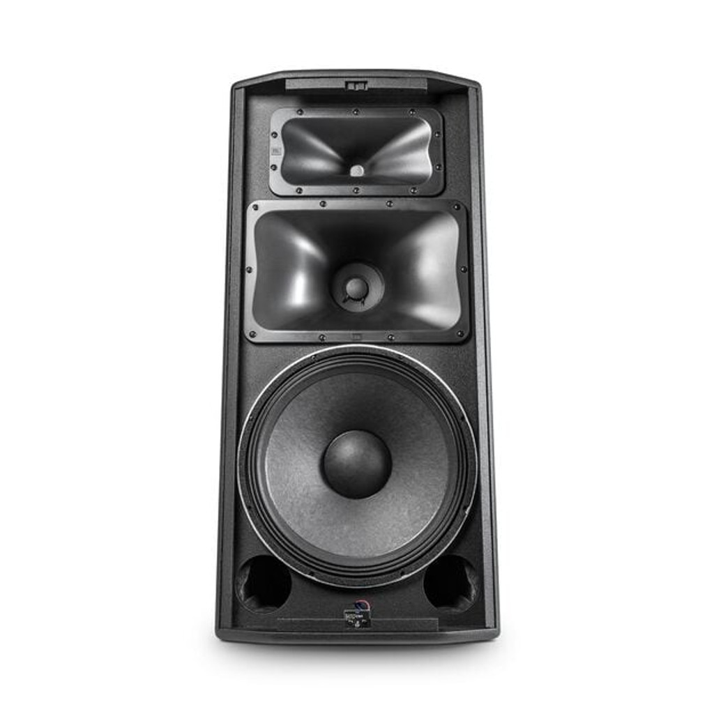 "JBL PRX835W Powered 15"" three-way system, wood cabinet, pole mount, M10 suspension points"