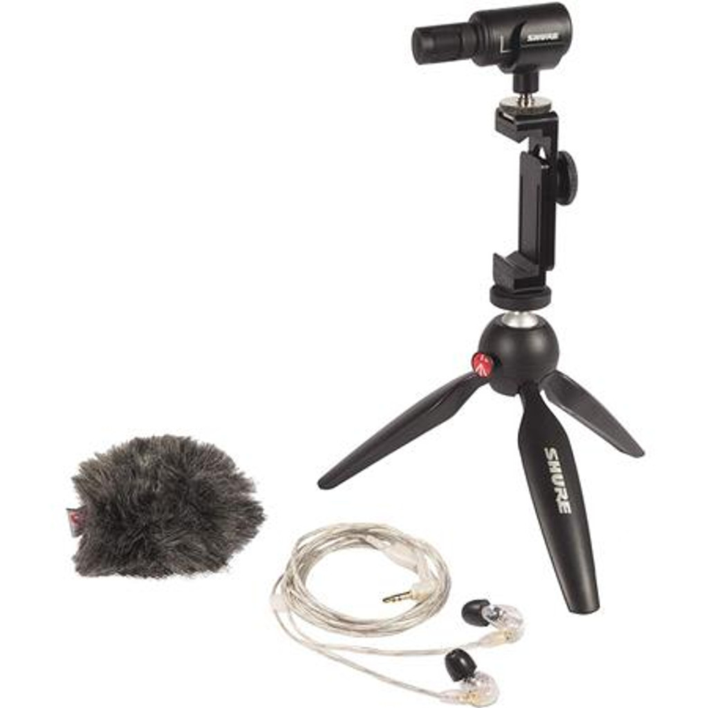 Shure MV88+ Video Kit with SE215 Earphones (MV88+SE215-CL)