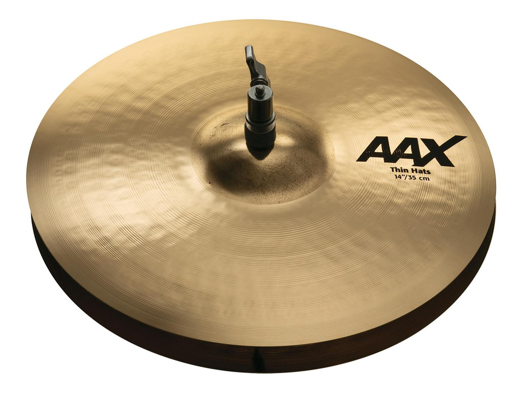 "SABIAN 14"" AAX Thin Hi-Hat Cymbals w/ Brilliant Finish (21401XCB)"