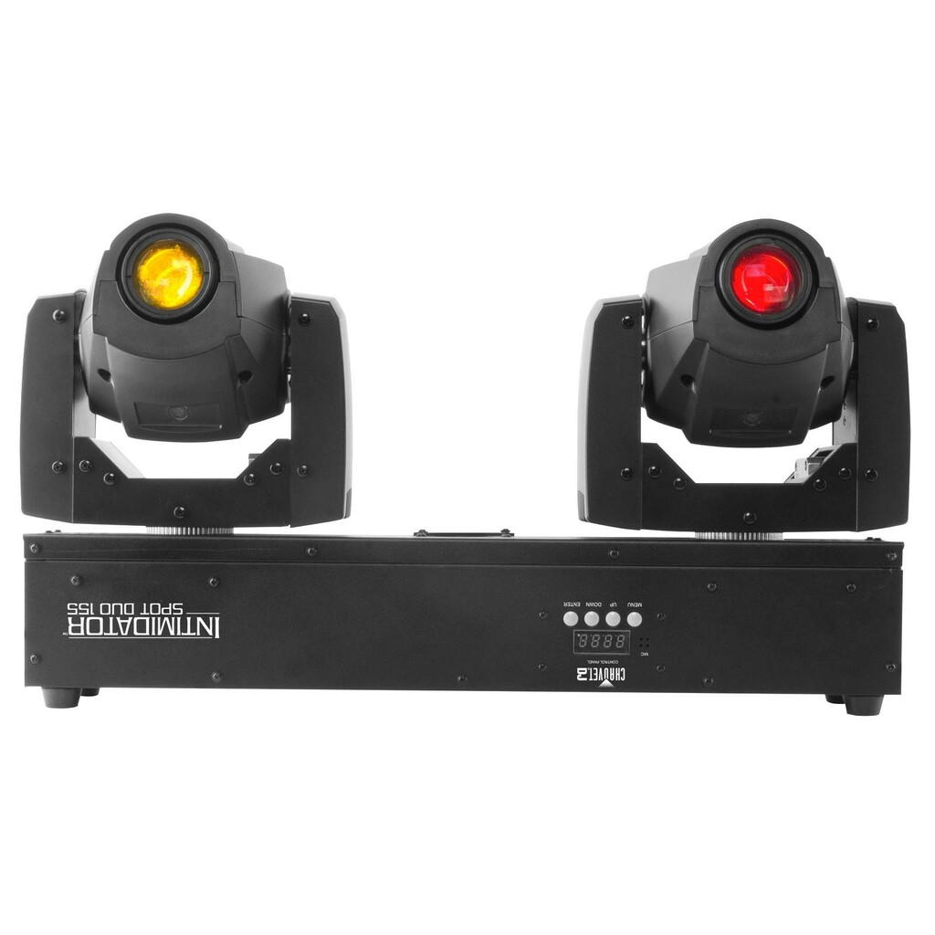 INTIMIDATOR SPOT DUO 155 Bright, compact, and lightweight LED moving head.